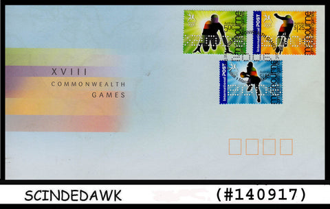 AUSTRALIA - 2006 XVIII COMMONWEALTH GAMES - 3V - FDC