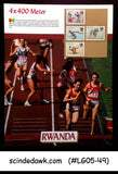 RWANDA - 1988 OLYMPIC GAMES 4x400 METER RUN PANEL MNH