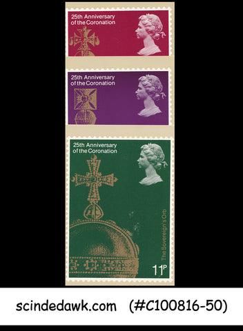 GREAT BRITAIN - 1978 25th ANNIVERSARY OF QEII CORONATION - PHQ CARDS 3nos MINT