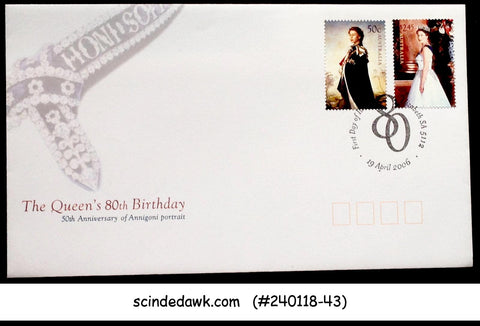 AUSTRALIA - 2006 THE QUEEN'S 80th BIRTHDAY - 2V - FDC