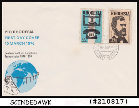ZIMBABWE / RHODESIA - 1976 Centenary of First Telephone Transmission - 2V FDC