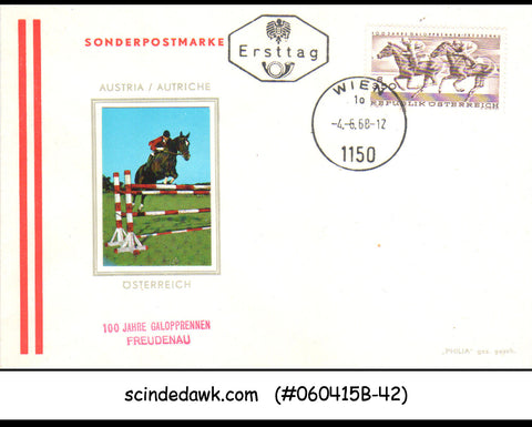 AUSTRIA - 1968 CENTENARY OF FREUDENAU GALLOP RACES / HORSE - FDC