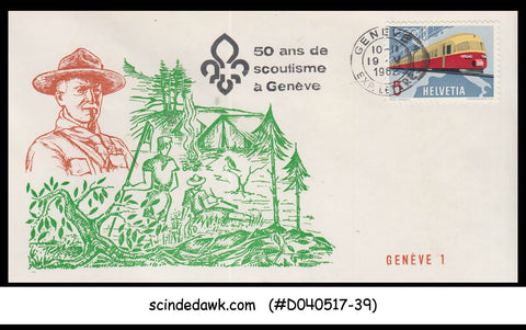 SWITZERLAND - 1962 50th Anniversary of SCOUTING IN GENEVA / SCOUT SPECIAL COVER