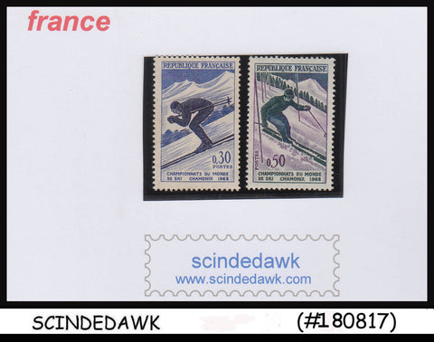 FRANCE - 1962 WORLD SKI CHAMPIONSHIP / SPORTS - 2V-  MINT NH