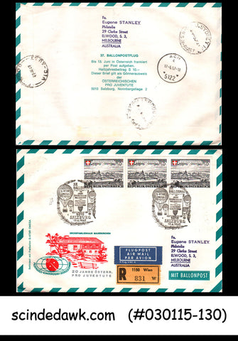 AUSTRIA - 1967 20yrs OF AUSTRIA PRO JUVENTUTE SPECIAL COVER WITH BALLOON POST CA