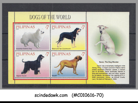 PHILIPPINES - 2010 DOG OF THE WORLD - MINIATURE SHEET MNH