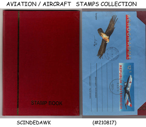COLLECTION of AIRCRAFT / AVIATION Stamps Different Countries in Small Stock Book