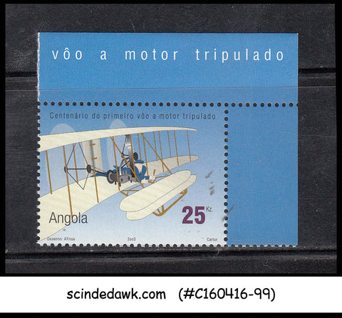 ANGOLA - 2003 CENTENARY OF POWERED FLIGHT / AVIATION - 1V MNH