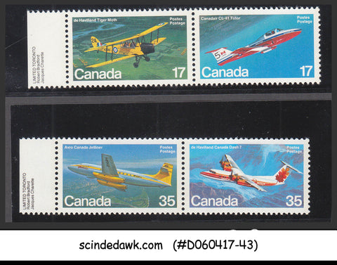 CANADA - 1981 AIRCRAFTS / AVAITION - 4V -  MINT NH