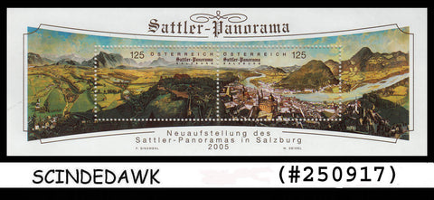 AUSTRIA - 2005 SATTLER PANORAMA / PAINTINGS - Miniature sheet MINT NH