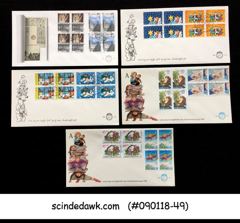 NETHERLAND - SELECTED FIRST DAY COVERS from 1980 - 5nos