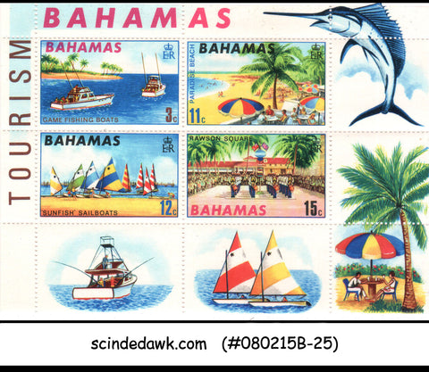 BAHAMAS - 1969 TOURISM MINIATURE SHEET MINT NH