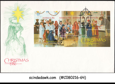 AUSTRALIA - 1986 CHRISTMAS - MINIATURE SHEET - FDC