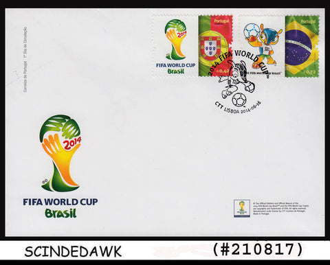 PORTUGAL - 2014 FIFA WORLD CUP BRAZIL / FOOTBALL / SOCCER 2V FDC