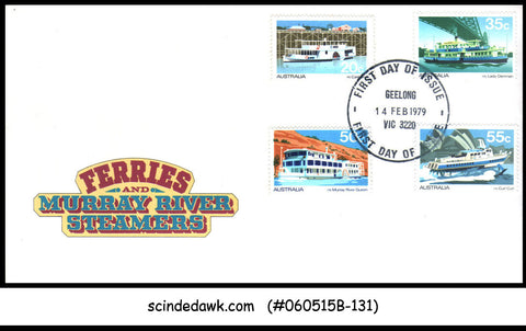 AUSTRALIA - 1979 FERRIES & MURRAY RIVER STEAMERS / BOATS - 4V-  FDC