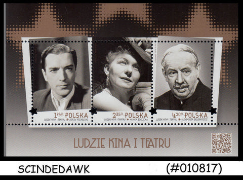 POLAND - 2015 Famous people of CINEMA & THEATRE - Miniature sheet MNH