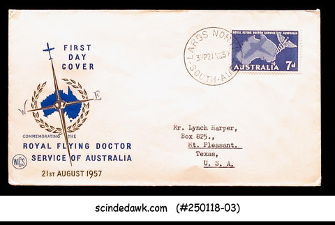 AUSTRALIA - 1957 ROYAL FLYING DOCTOR - FDC