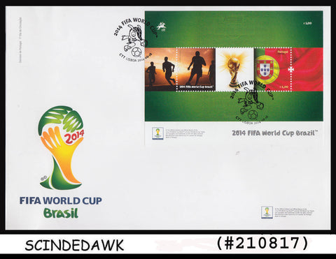 PORTUGAL - 2014 FIFA WORLD CUP BRAZIL / FOOTBALL SOCCER - Min/sht FDC
