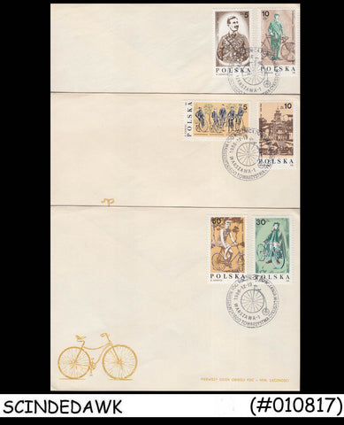 POLAND - 1986 WARSAM CYCLING SOCIETY - FDC 3nos