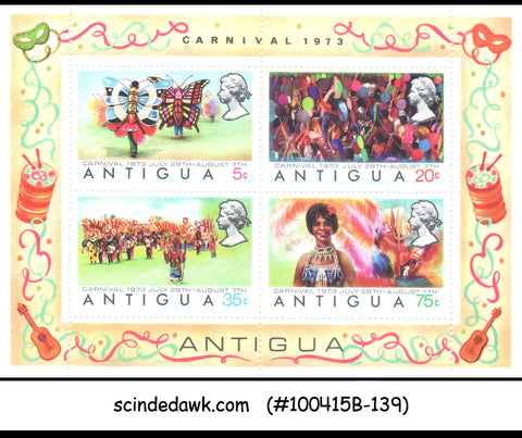 ANTIGUA - 1973 CARNIVAL - MINIATURE SHEET MINT NH