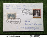 AUSTRIA - 1974 LUFTHANSA VIENNA to MUNICH - FIRST FLIGHT COVER FFC