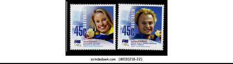 AUSTRALIA - 2002 OLYMPIC GAME GOLD MEDALIST - 2V MINT NH