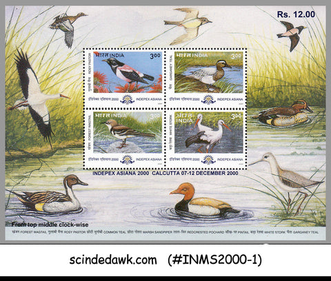 INDIA - 2000 INDEPEX ASIANA 2000 / BIRDS - MIN/SHT MNH