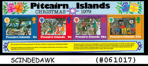 PITCAIRN  ISLANDS - 1979 CHRISTMAS- PAINTINGS OF UNIQUE TRADITION - MS MNH