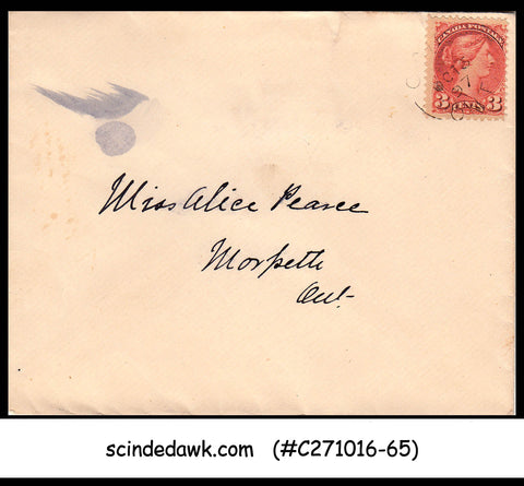 CANADA - 1897 envelope with QV STAMP - USED