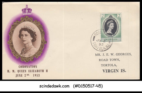 VIRGIN IS. - 1953 QE CORONATION FIRST DAY COVER