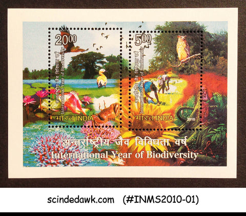 INDIA - 2010 INTERNATIONAL YEAR OF BIODIVERSITY FLORA & FUANA M/S MNH