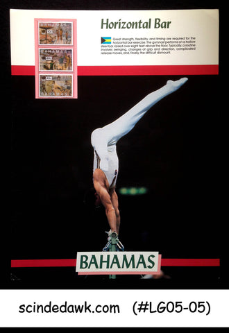BAHAMAS - 1988 OLYMPIC GAMES / HORIZONTAL BAR - 3V PANEL MNH