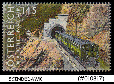 AUSTRIA - 2012 100th Anniv of the Mittenwald RAILWAY - 1V - MINT NH