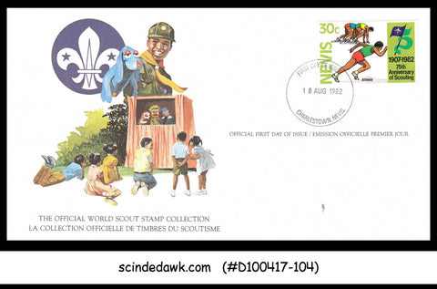NEVIS - 1982 75th Anniversary of SCOUTING / SCOUT - FD CARD