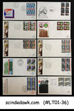 NETHERLAND - SELECTED FIRST DAY COVERS from 1980 to 1994 - 25nos