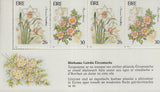 IRELAND - 1990 IRISH GARDEN FLOWERS - STAMP BOOKLET (2-panes MNH