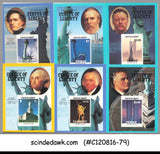 MINI LOT OF PRESIDENT OF AMERICA / STATUE OF LIBERTY M/Ss DIFF. COUNTRIES 24V MN
