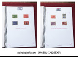 INDIA COLLECTION 1947-56 ANNA SERIES Comp. except service stamps in RING BINDER