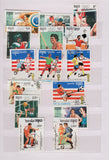 COLORFUL COLLECTION OF TOPICAL Stamps of CAMBODIA in Small Stock Book