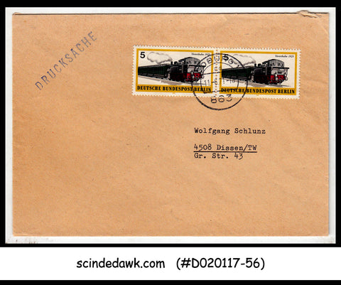 GERMANY - 1971 Envelope with SUBURBAN TRAIN / RAILWAY STAMPS - Used