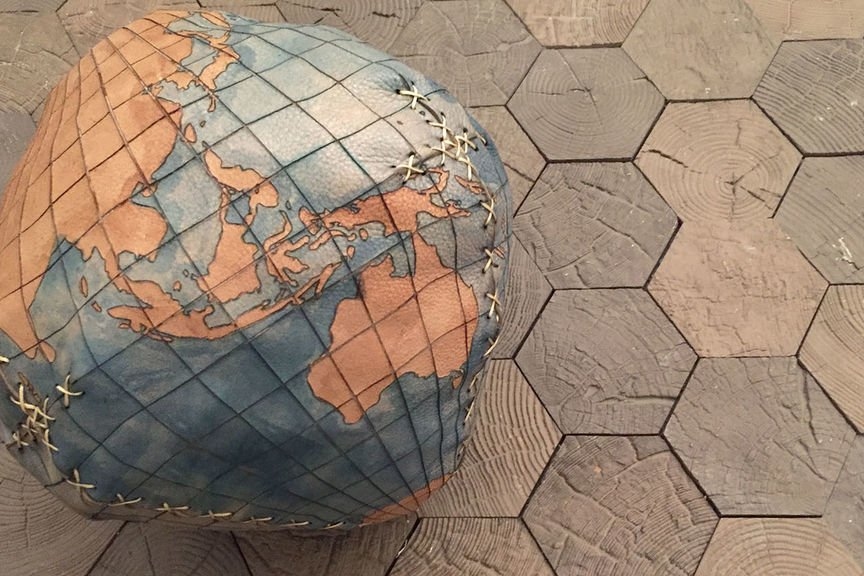Laser Cut Leather Globe