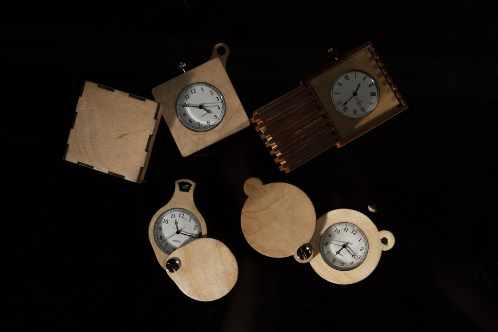 Laser Cut Pocket Watches by Rob Roach