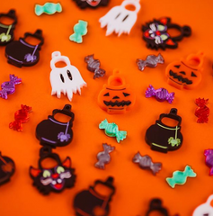 Laser cut halloween earrings
