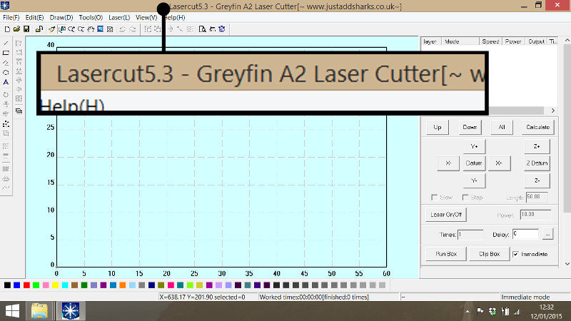 Check your model of Laser Cutter in Lasercut 5.3