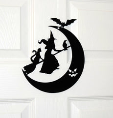 laser cut door wreath halloween