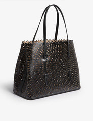 laser cut leather bag
