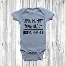 50% Mummy 50% Daddy 100% Perfect Baby Grow - DizzyKitten