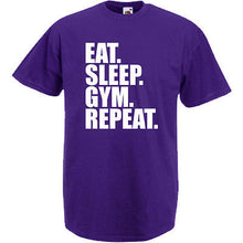 Eat Sleep Gym Repeat T-Shirt - DizzyKitten