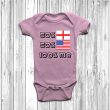 50% English 50% American Baby Grow - DizzyKitten