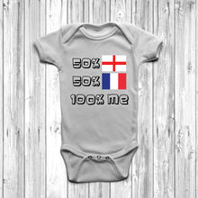 50% English 50% French Baby Grow - DizzyKitten